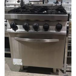 Cocina 4 fuegos con horno Fondo 750 mm