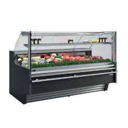 Vitrina expositora modular frío ventilado especial carnicería, charcutería