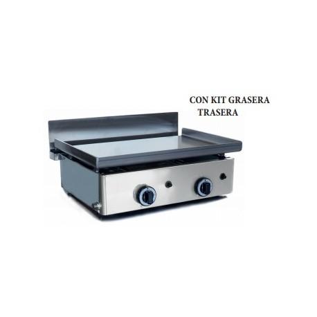 Plancha a gas acero cromo 8mm espesor