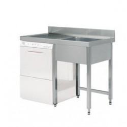 Fregadero con bastidor para lavavajillas 1200x600 Oferta Outlet