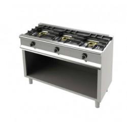 Cocina serie Eco 550 3 fuegos con soporte