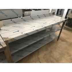 Mesa mural de 1800x500 con 2 estantes Oferta Outlet