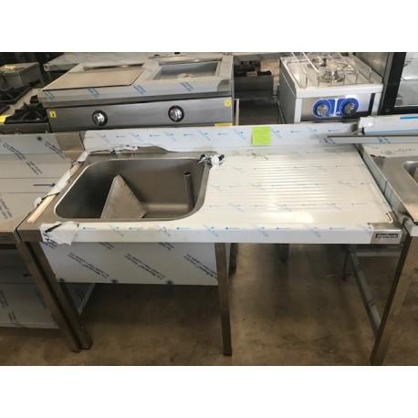 Fregadero con bastidor para lavavajillas 1400x700 esc Derecha Oferta Outlet