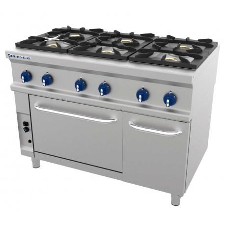 Cocina 6 fuegos con horno Repagas Fondo 750