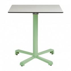 Mesa aluminio para int/ext. abatible