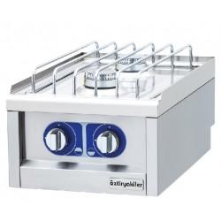 Cocina a gas sobremesa 2 fuegos gama 600