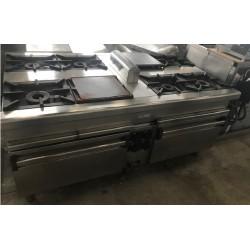 Cocina Central 6 fuegos +2 planchas + 2 hornos