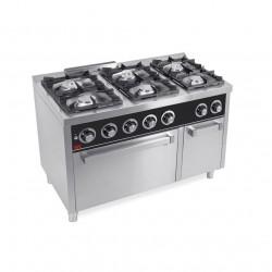 Cocina 6 fuegos a gas con horno