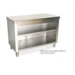 Mueble central neutro con un frontal abierto Gama 600