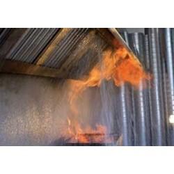 Sistema de extinción de incendios para campana (varias medidas)
