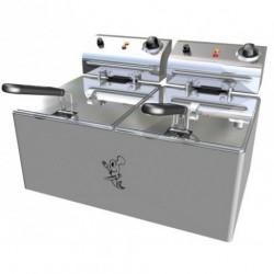 Freidora eléctrica sobremesa doble seno de 6+6 a 10+10L