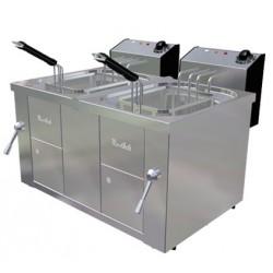 Freidora eléctrica sobremesa con sistema elevación 10+10L