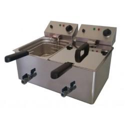 Freidora eléctrica con grifo de (8+8 y 10+10l) OFERTA
