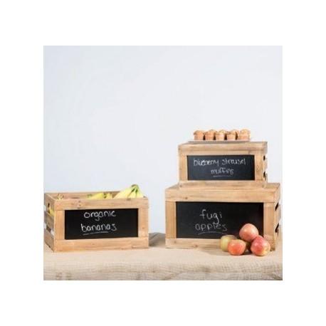 Set de cajas de madera rústicas