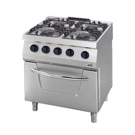 Cocina a gas 4 fuegos fondo 700