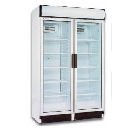 Armario expositor refrigerado doble puerta compartimentado