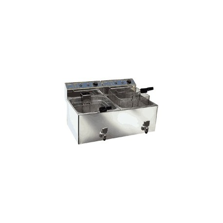 Freidora Eléctrica Sobremesa Doble Cubeta (de 8 a 12 litros)