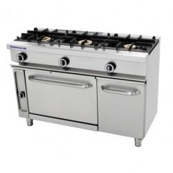 Cocina Repagas 3 fuegos con horno y gratinador