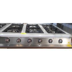 Cocina de sobremesa de 6 fuegos