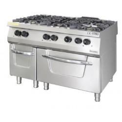 Cocina 6 fuegos con horno linea 900