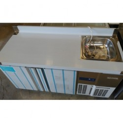 Mesa congelación con Fregadero serie 600